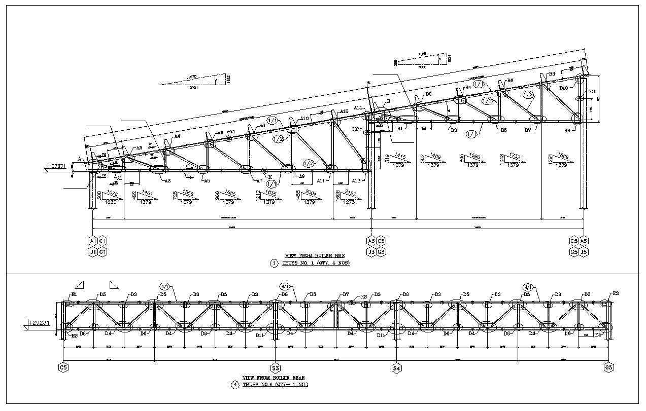 Truss Structure Details 7 Architectural Cad Drawings