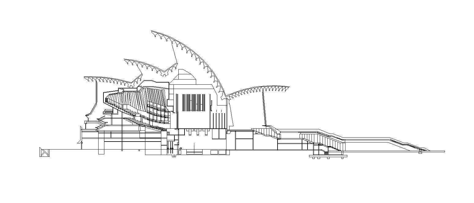 Sydney Opera House Architectural Autocad Drawings Blocks Details