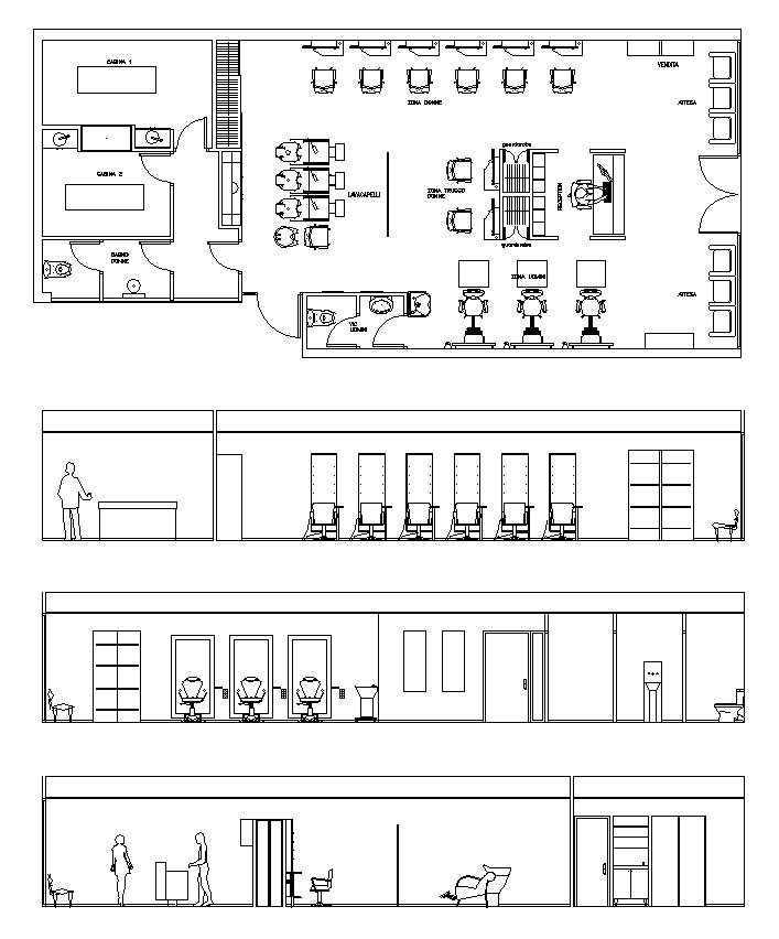 Fabulous Hair Salon Blocks Plans Download Free Architecture Designs Intelgarnamadebymaigaardcom