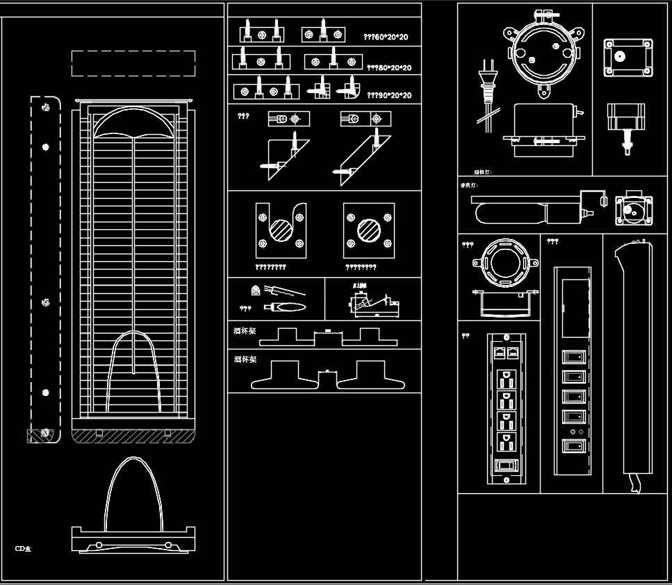 Over 2000 Hardware Accessories CAD blocks – Architectural ...