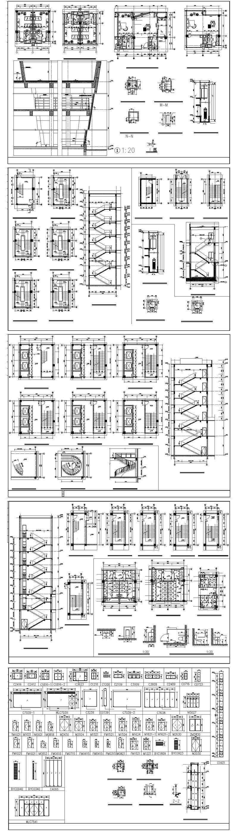 ★【Residential Building CAD Design Collection V.2】Layout,Lobby,Room design,Public facilities,Counter@Autocad Blocks,Drawings,CAD Details,Elevation (Copy)