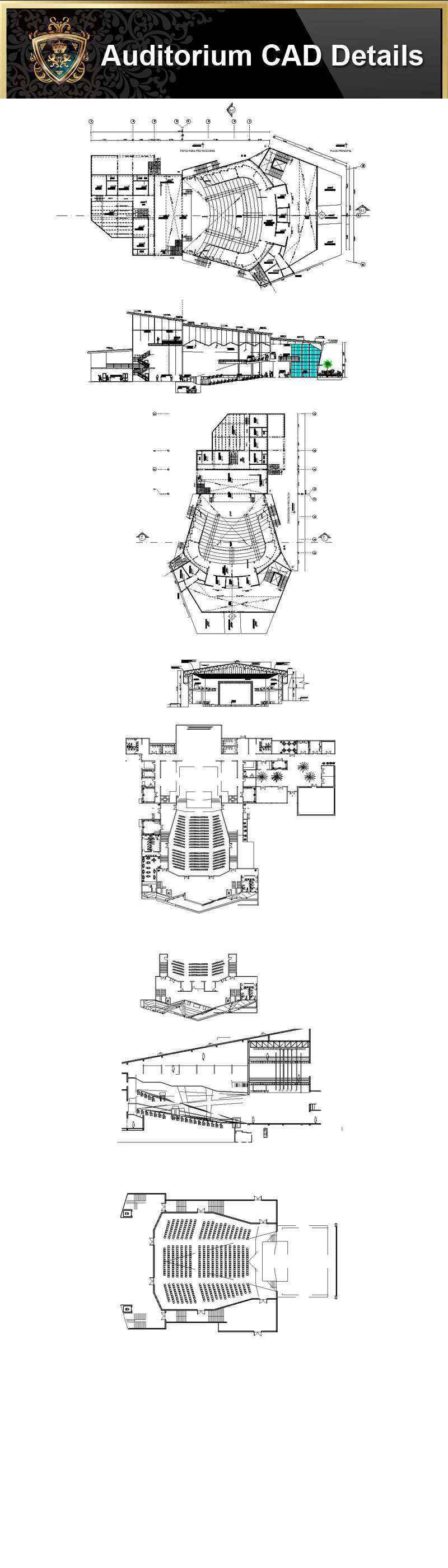 Architecture Details, Architecture drawings, Auditorium Design, Auditorium elevation design drawings, Auditorium Section, AuditoriumDetails, Autocad Blocks, Decorative elements-Frame, home design, Interior Design CAD Collection, Landscape Architecture, Neoclassical Interiors Decor