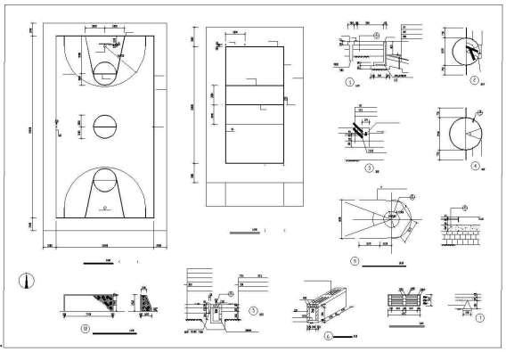 ★【Stadium CAD Blocks-Stadium,Gymnasium, track and field, playground, Sports  hall V 2】@basketball court, tennis court, badminton court, long jump, high