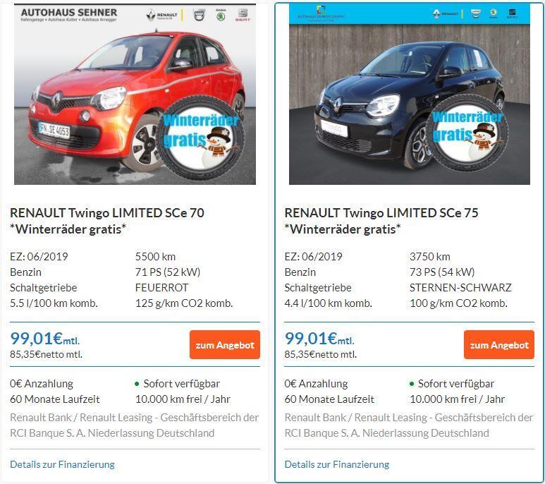 Renault Leasing Zoe trotz Schufa