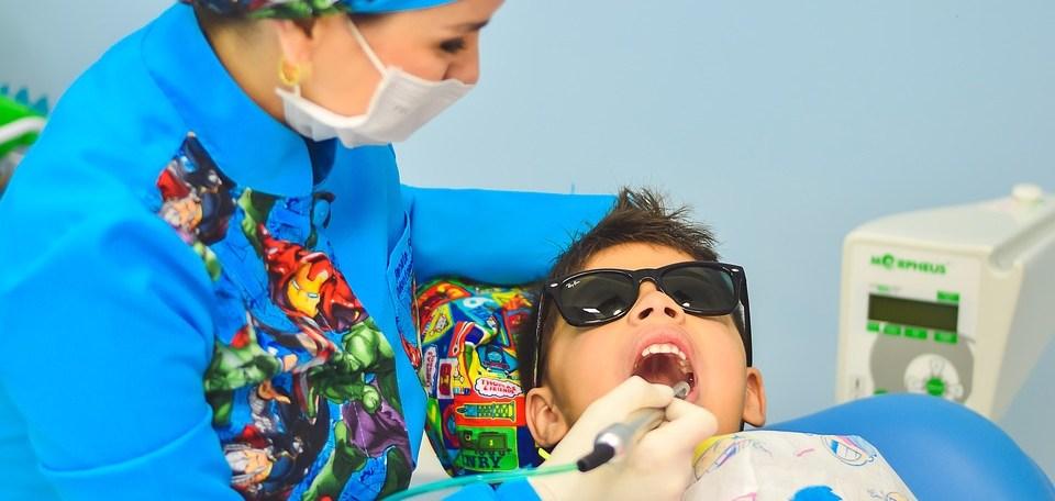 boy with dentist
