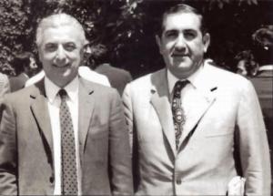 1971 - Antonio Pellegrini con il Dott. Artemio Franchi, Presidente UEFA, al Cinquantenale della Sezione AIA di Firenze.