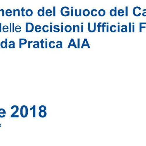 Regolamento Gioco del Calcio 2018/2019
