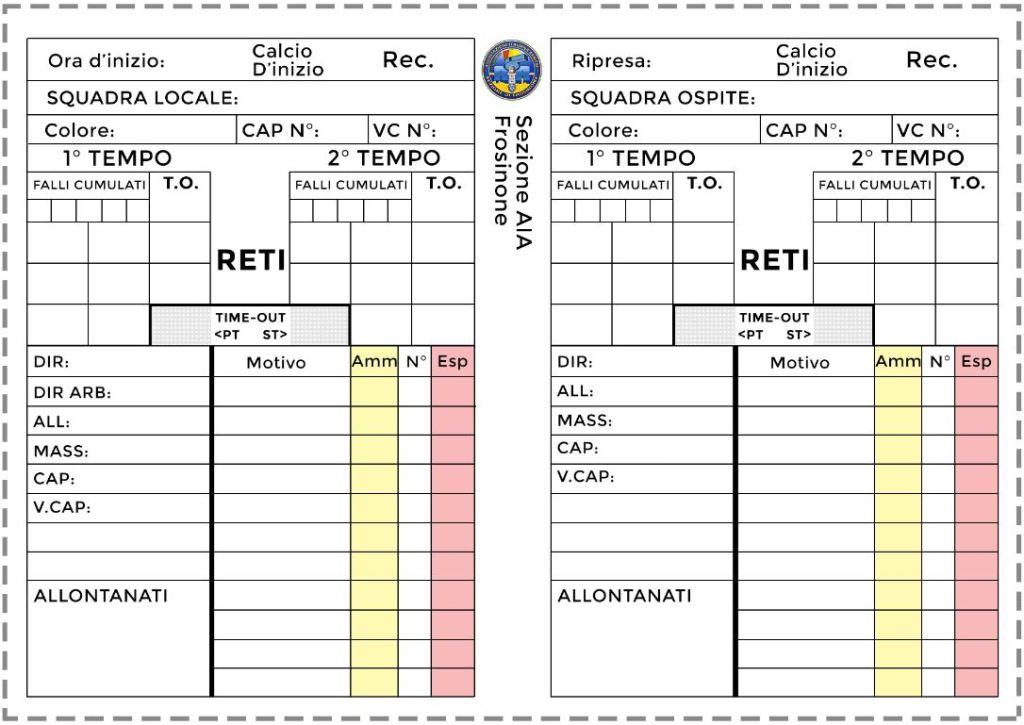 Taccuino Arbitro - Calcio a 5