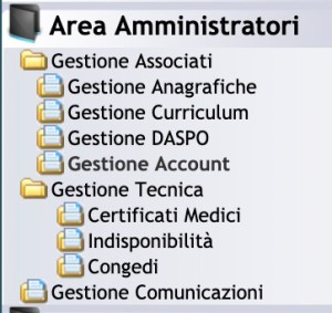 Sinfonia 4 you, area amministratori