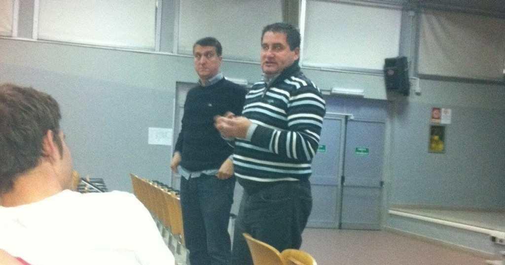 Garelli e Paolo Calcagno spiegano ai reclutati del Marie Curie il Corso Arbitri