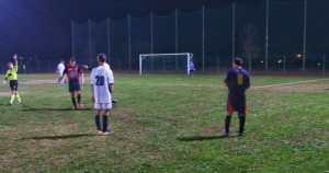 Una fase di gioco dell'incontro tra la nostra squadra e la compagine locale
