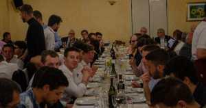Gli associati pinerolesi alla prova del cibo presso la Bergera.