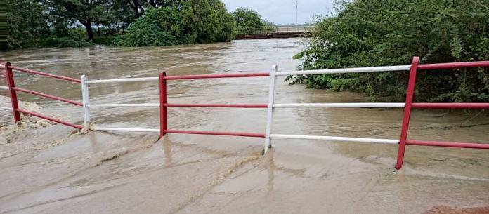 Koulpelogo : Le pont de déviation de Lalgaye sous les eaux