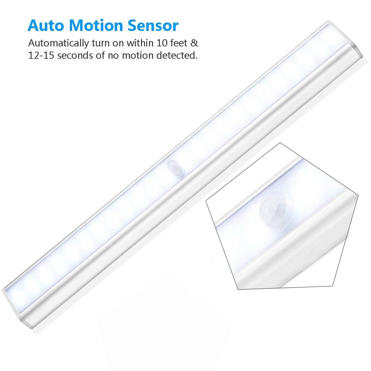 Aibocn Led Closet Light Rechargeable 24 Led Motion Sensor