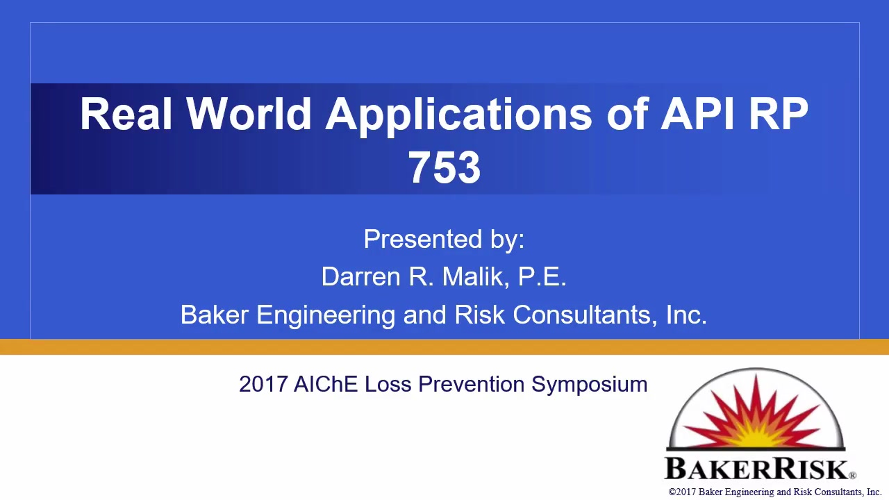 hight resolution of real world applications of api 753