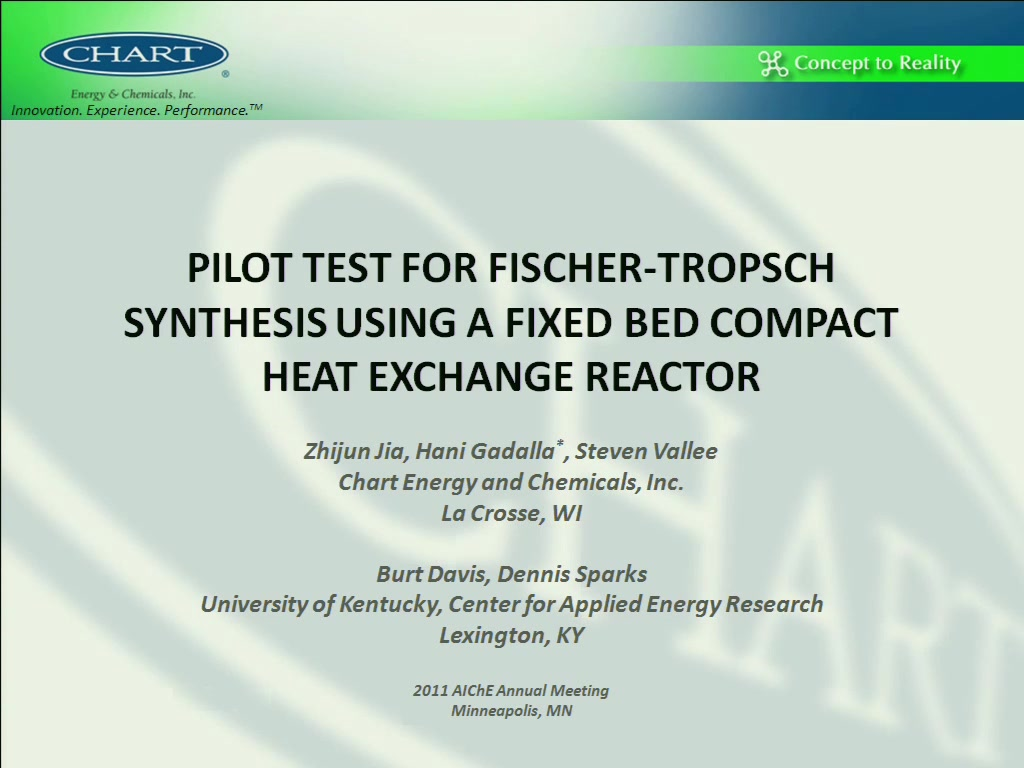 fischer tropsch process flow diagram kenmore hot water heater wiring pilot test for synthesis using a fixed bed