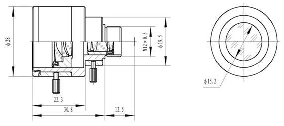 m12 cctv varifocal lens 4.0-9.0mm 1/3 manual iris board