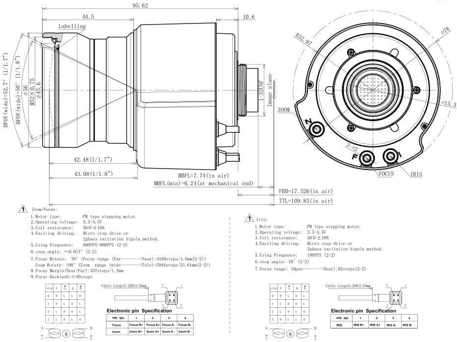 10-40mm F1.3 12mp P-iris motorized autofocus c mount 4x