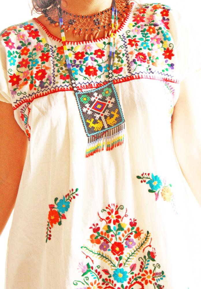 Handmade Mexican embroidered dresses and vintage treasures from Aida Coronado Mexico embroidered