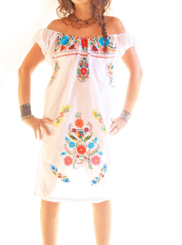 Handmade Mexican embroidered dresses and vintage treasures from Aida Coronado Mexican off