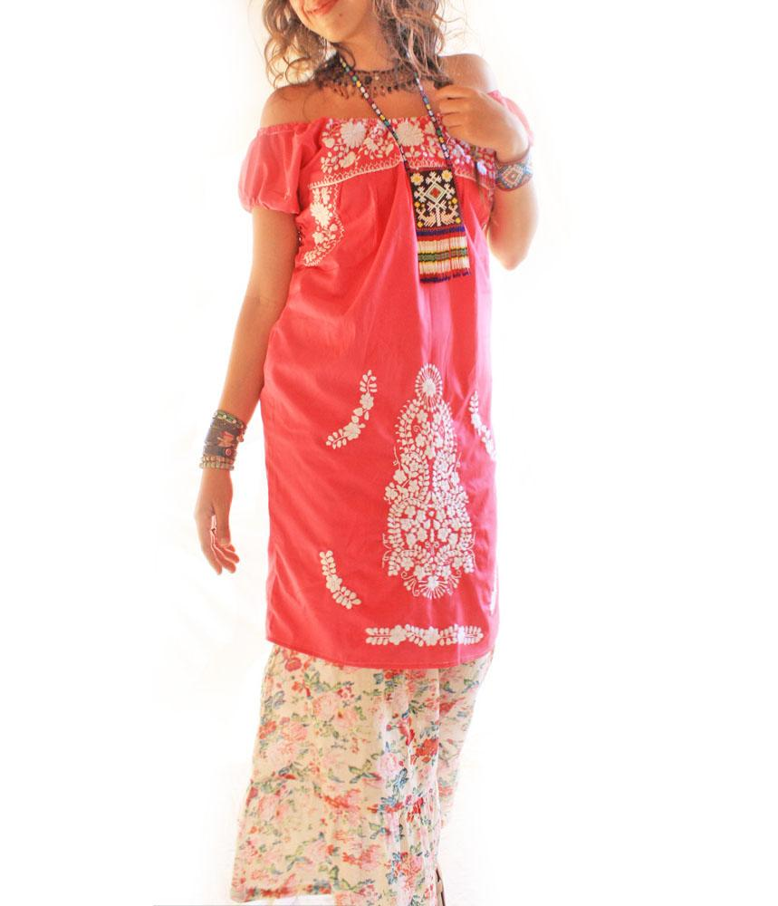 Handmade Mexican embroidered dresses and vintage treasures from Aida Coronado Mexican