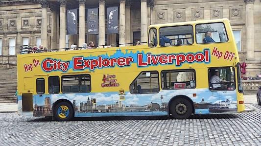 00-City Explorer tour bus outside World Museum Liverpool