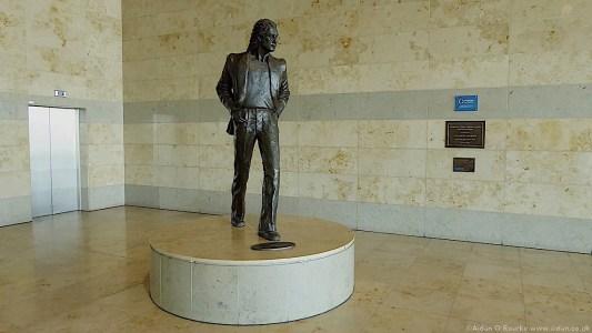 John Lennon statue Liverpool Airport