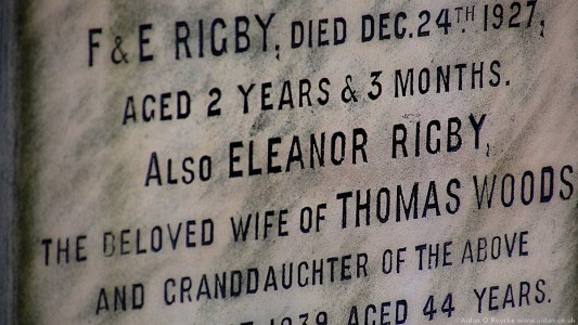 Eleanor Rigby gravestone, St Peters Church, Woolton, Liverpool