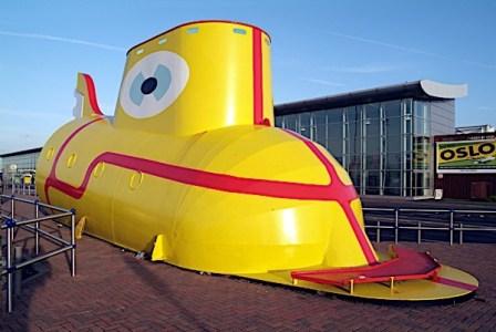 The Yellow Submarine Liverpool John Lennon Airport