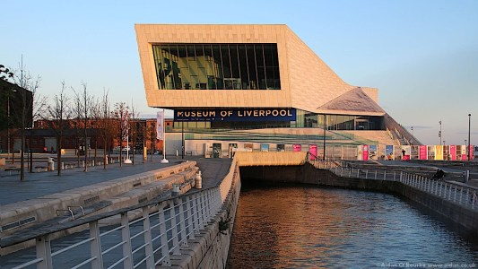 The Museum of Liverpool at dusk