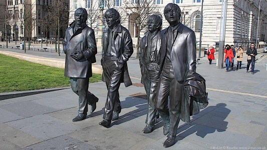 The Beatles Statues, Pier Head, Liverpool