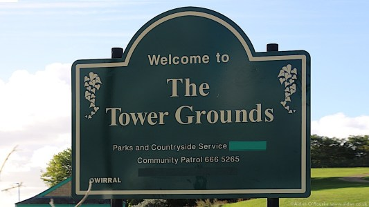 Welcome to the Tower Grounds sign