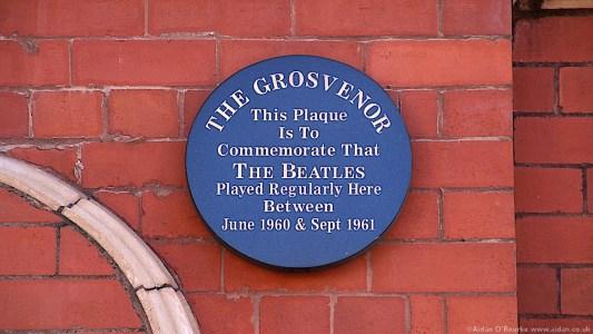 The Grosvenor Ballroom blue plaque