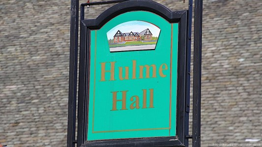 Hulme Hall sign, Port Sunlight, Wirral
