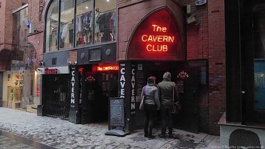 The Cavern Club neon entrance