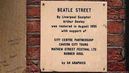 Beatles Street artwork Arthur Dooley sign