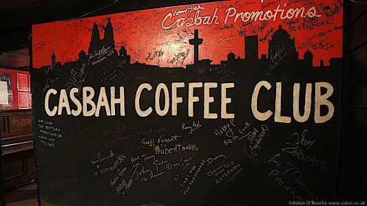 The Casbah Coffee Club sign and signatures