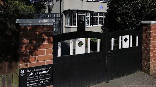 Gates of 252 Menlove Avenue John Lennon home