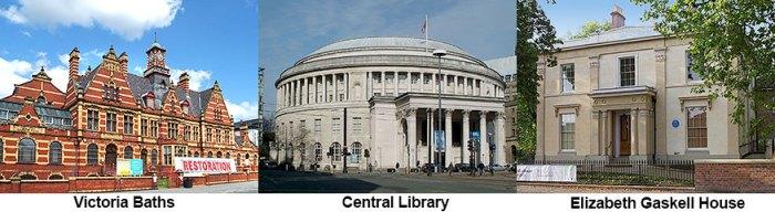 Cultural Venues: Victoria Baths Central Library Elizabeth Gaskell House