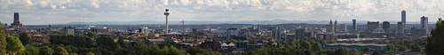 VIew Everton Brow Liverpool with the Welsh Hills