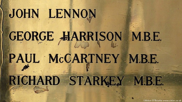 Beatles plaque Liverpool town hall