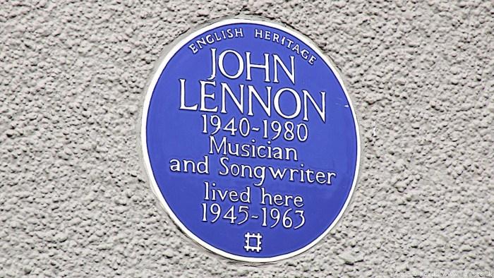 John Lennon plaque 251 Menlove Avenue Liverpool