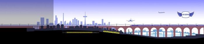 Aidan O'Rourke - AVZINE graphic - cities and journeys