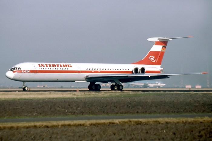 GDR Interflug Ilyshin 62 aircraft