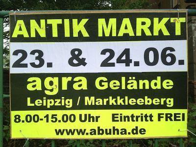 Leipzig signs: Antik Markt Antique Market