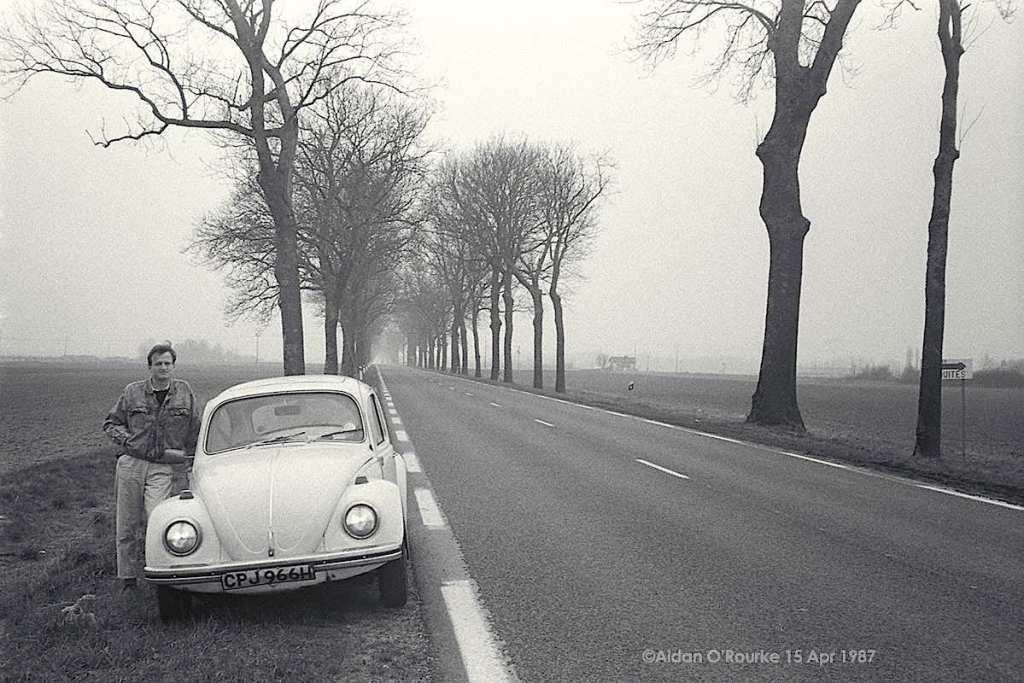 Aidan O'Rourke and his 1971 VW Beetle 1500. Photo by Kieran Sheridan
