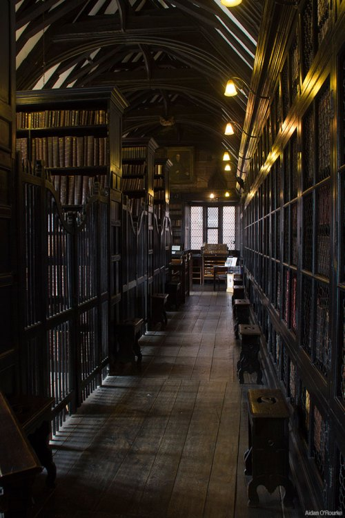 Interior of Chethams Library, Manchester
