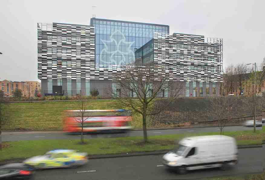 MMU Birley building on Princess Road Hulme