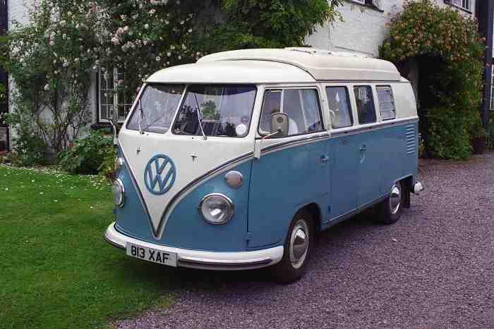 Classic 1963 split-screen VW camper van