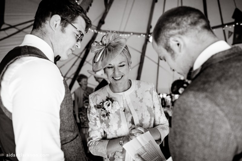 a country tipi wedding in a tipi